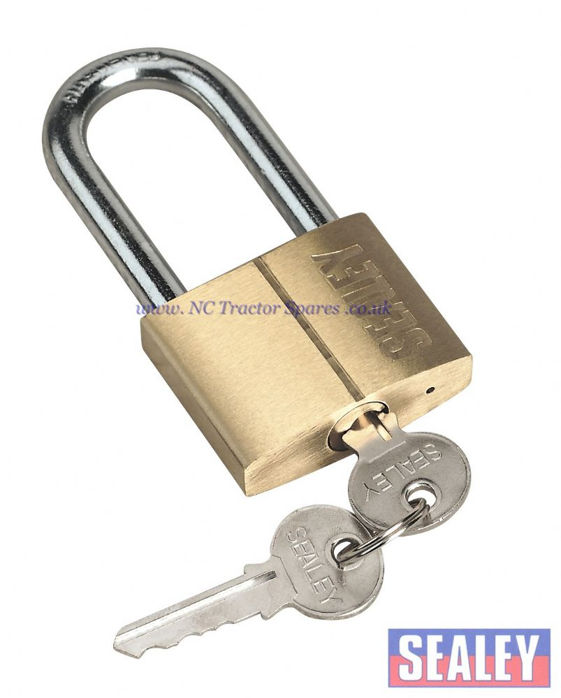 Padlock with Brass Cylinder Long Shackle 50mm
